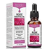 kizenka Rose Ätherisches Öl, Vitamin C Hautpflege, Anti-Aging-Falten aufhellen, Perfekt für Aromatherapie, Entspannung, Hauttherapie & mehr - NATÜRLICH