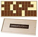 DAS LEBEN IST ZU KURZ... - ChocoTelegram - Das Leben ist zu kurz um lange böse zu sein - Verzeih mir! | Sorry mit Schokolade sagen | Frauen | Männer | Süße Entschuldigung Geschenk | Holzschachtel