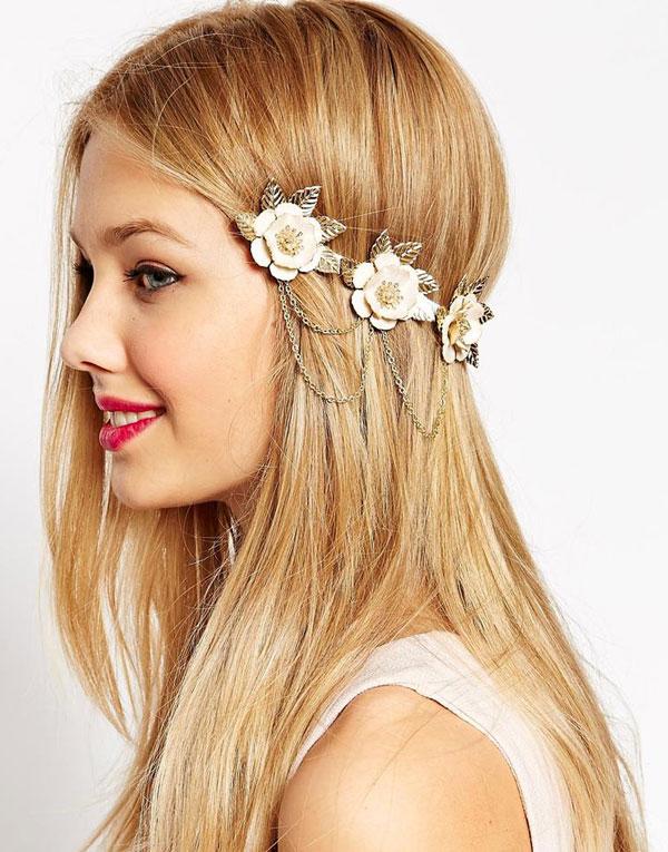 Haarspange Blumen