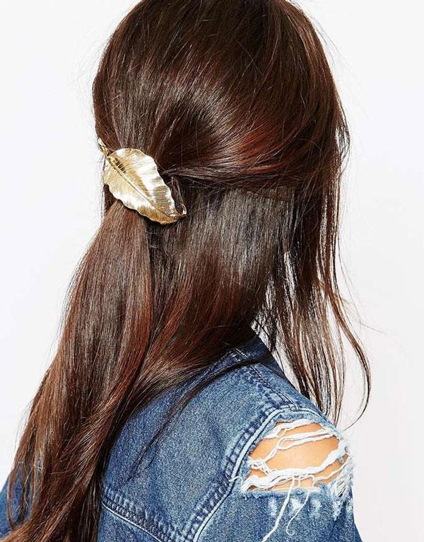 Haarspange metallic