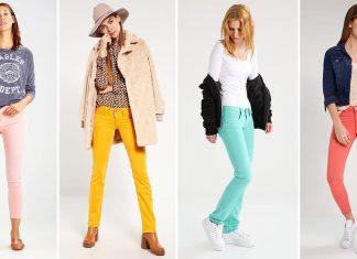 farbige bunte Jeans