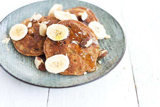 Banenen Walnuss Pancakes