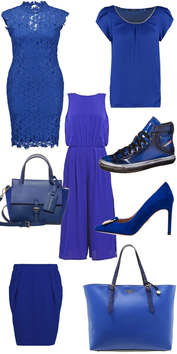 Trendfarbe leuchtendes Blau