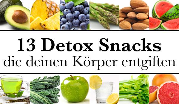 Gesundheit & Wohlbefinden - diese Detox Snacks geben dir den Energiekick!