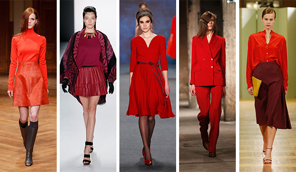 Herbst Trendfarbe rot