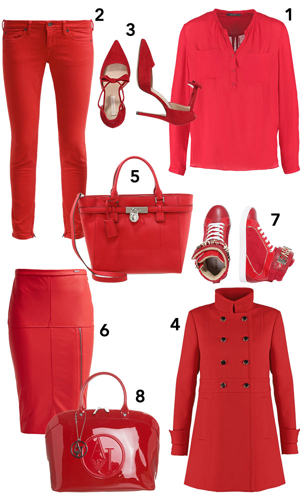 Herbst-Trendfarbe rot