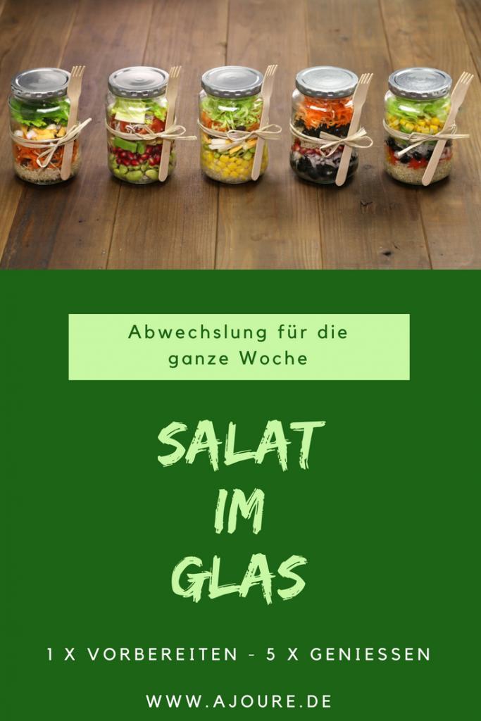 Salat im Glas - Pinterest
