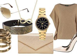 Mit einem goldfarbenen It-Piece wird jedes Outfit zum Highlight.