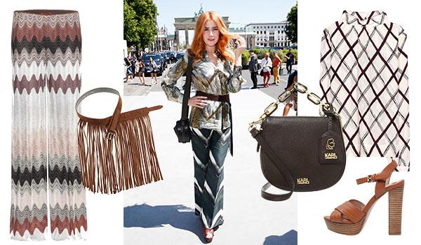 Definitiv nicht langweilig: Die Outfits von Palina Rojinski.