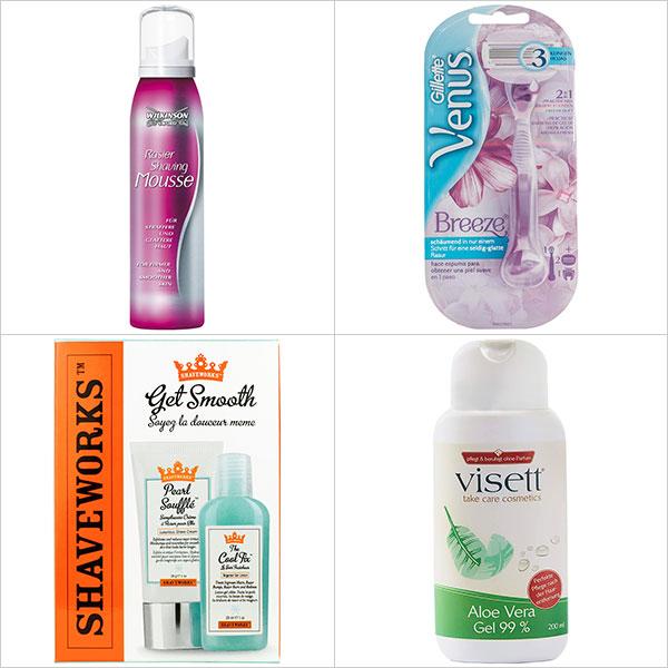 Rasur Pflegeprodukte für Frauen