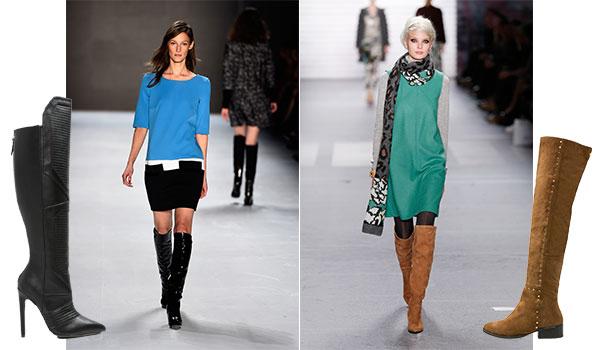 Designer wie Laurel und Marc Cain zeigen es: Overknee Stiefel werden jetzt alltagstauglich.