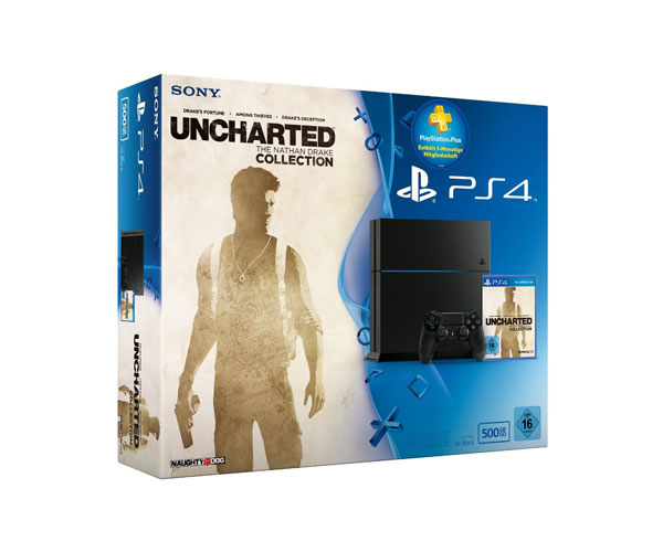 PlayStation 4 - Konsole (500GB) inkl. Uncharted: The Nathan Drake Collection