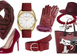 Accessoires in Rot sind immer ein Blickfang!