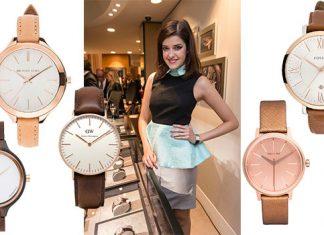 Armbanduhren Trend roségold und braun