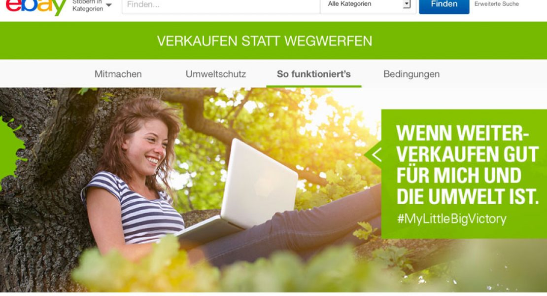 Sorge dafür, dass eBay Bäume pflanzt – Verkaufen statt Wegwerfen!