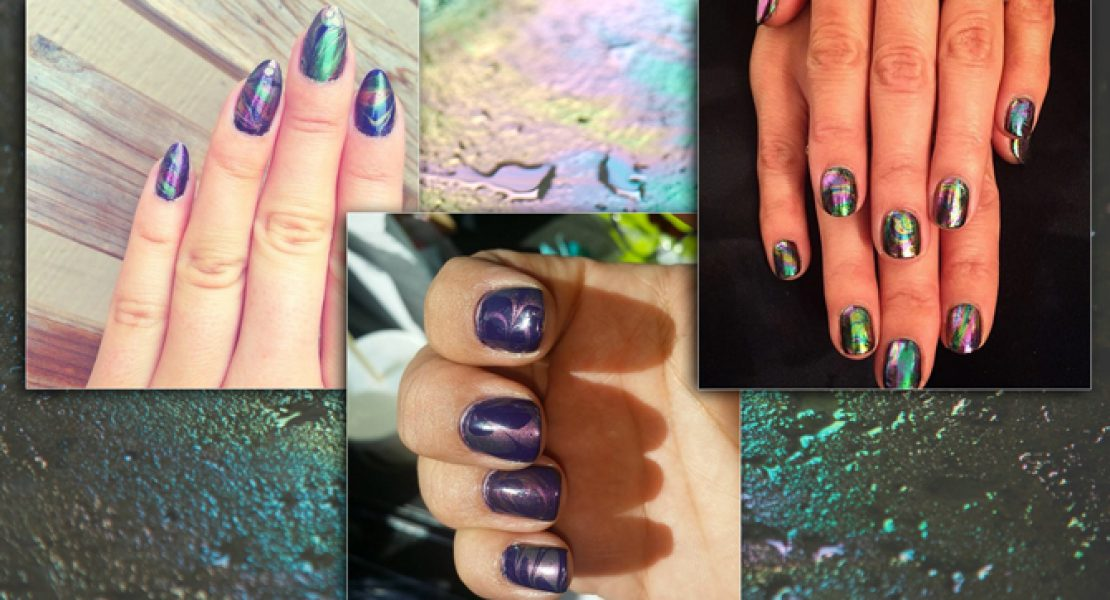 Oil Slick Nails –  Lass deine Nägel schimmern