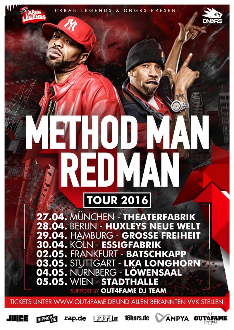Method Man & Redman  Tour 2016
