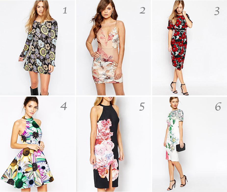 Blumenkleider Trends Sommer 2016
