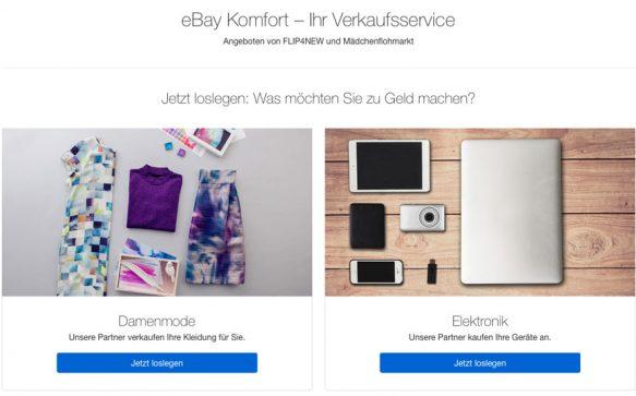 eBay Komfort – Dein Verkaufsservice von Mädchenflohmarkt & FLIP4NEW