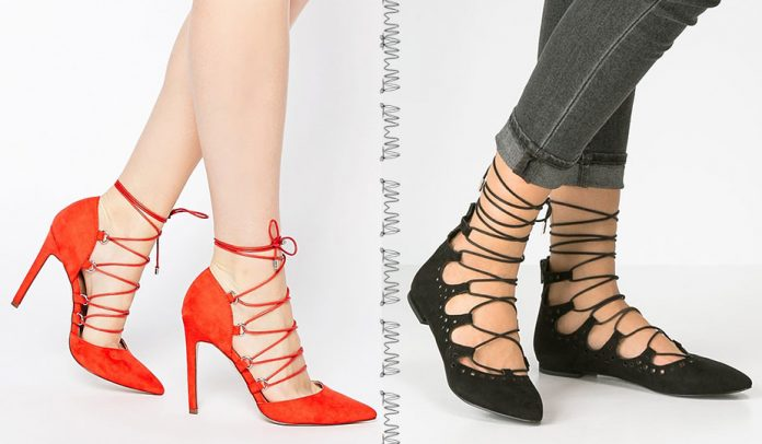 Lace up Ballerinas vs. High Heels