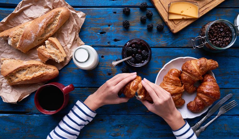Diät Lügen üppiges Frühstück