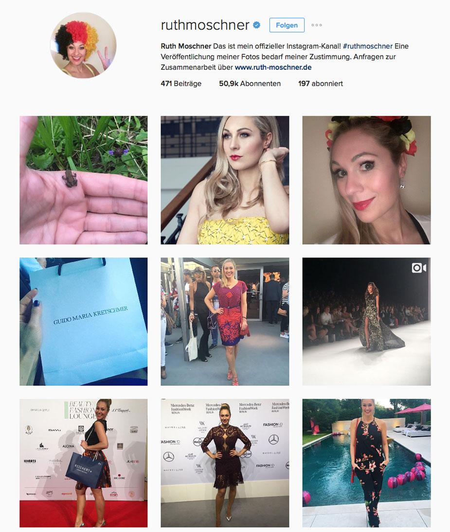 Ruth Moschner auf Instagram