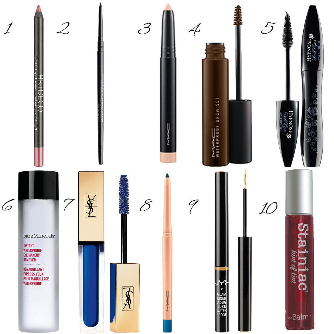 wasserfests Make-up Produkte