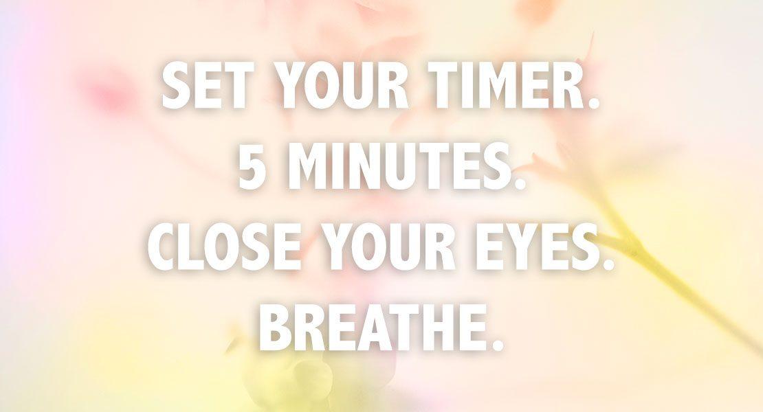 5 Dinge, die du in nur 5 Minuten  am Tag für dich tun kannst