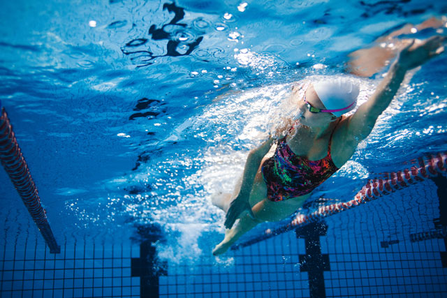 Figur durch Schwimmen