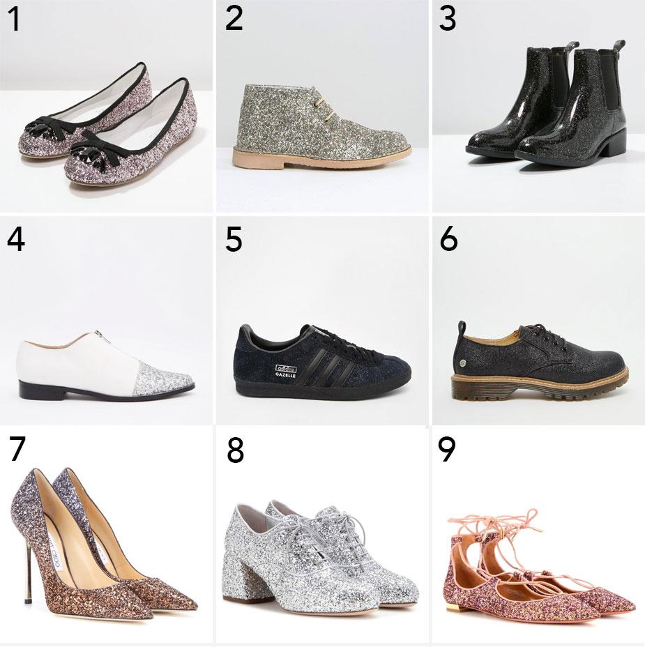 Glitzer-Schuhe