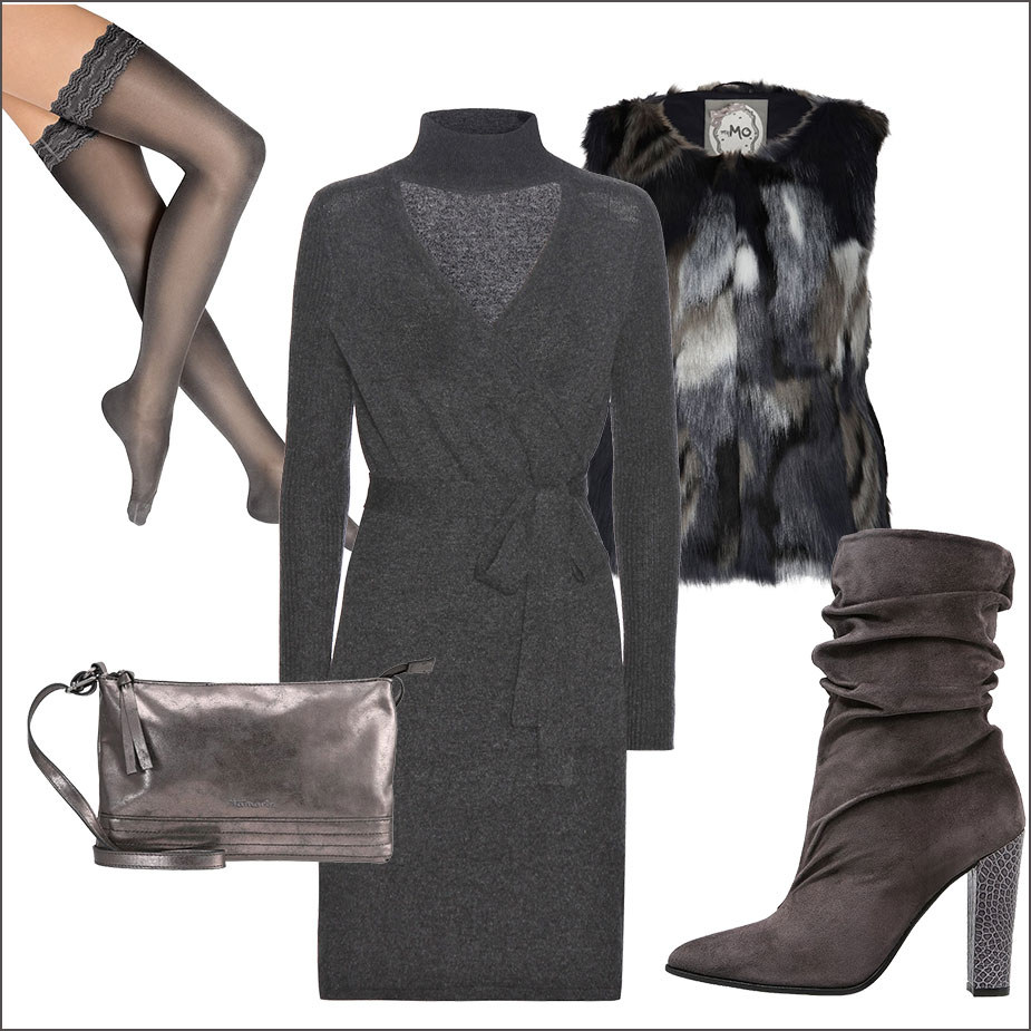 Wickelkleid Outfit 2