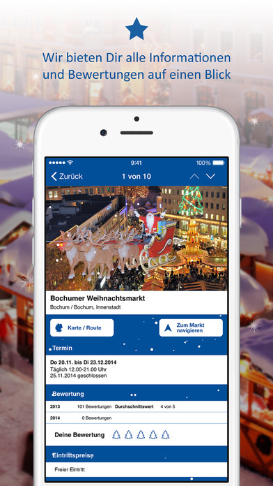 Weihnachtsmarkt App