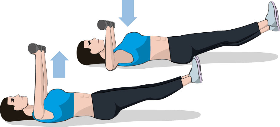 Chest Press with Legs extended