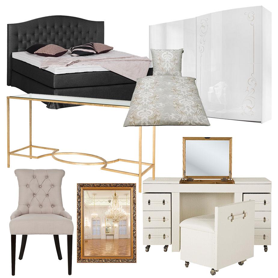 Schlafzimmer: Glamour Feeling
