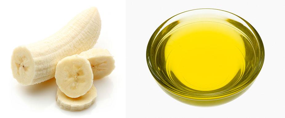Bananen-Mandelöl-Haarmaske