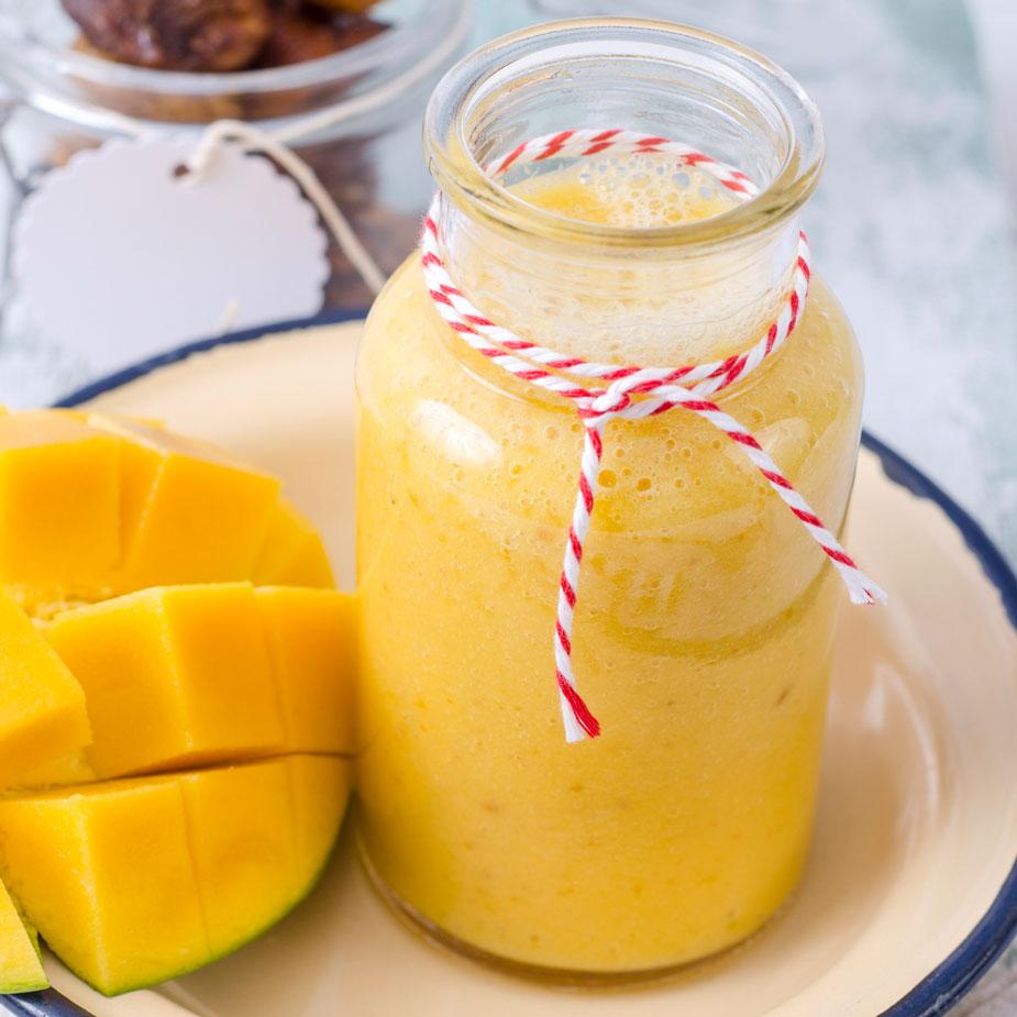 Buttermilch und Mango