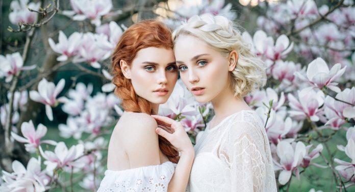 Pastell Make-up im Frühling