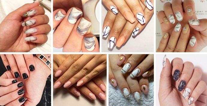 Marble Nails: Wir sind verliebt in die neuen Marmor-Nägel!