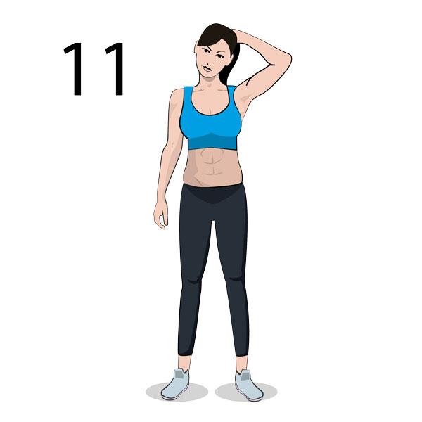 Nacken Stretching