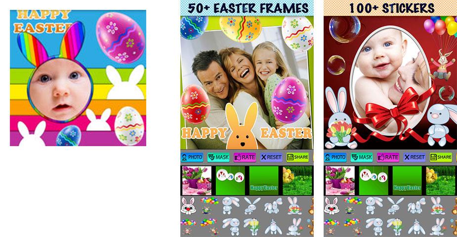 Ostern-Foto-Rahmen und Masken