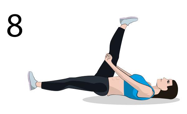 Rückseite Oberschenkel Stretching