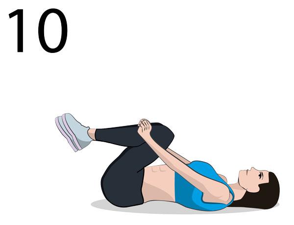 unterer Rücken Stretching