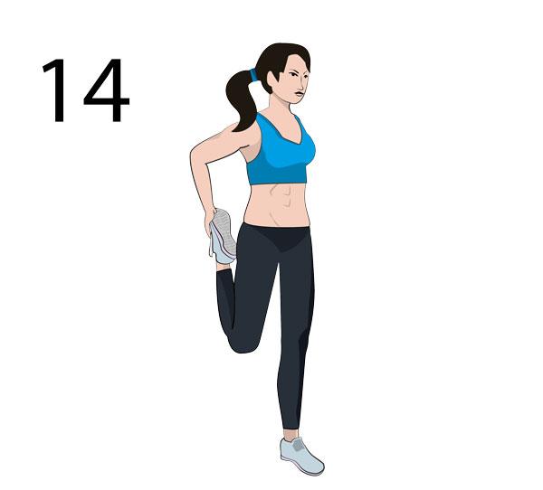 Vordere Oberschenkel Stretching