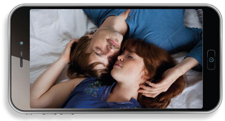 Couple Selfie im Bett