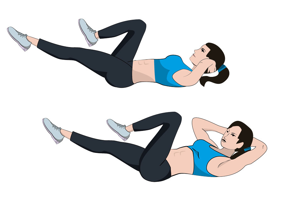 1. Bicycle Crunches