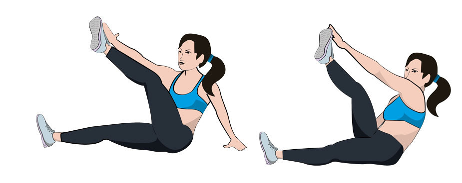 9. Star Toe Touch Sit-ups