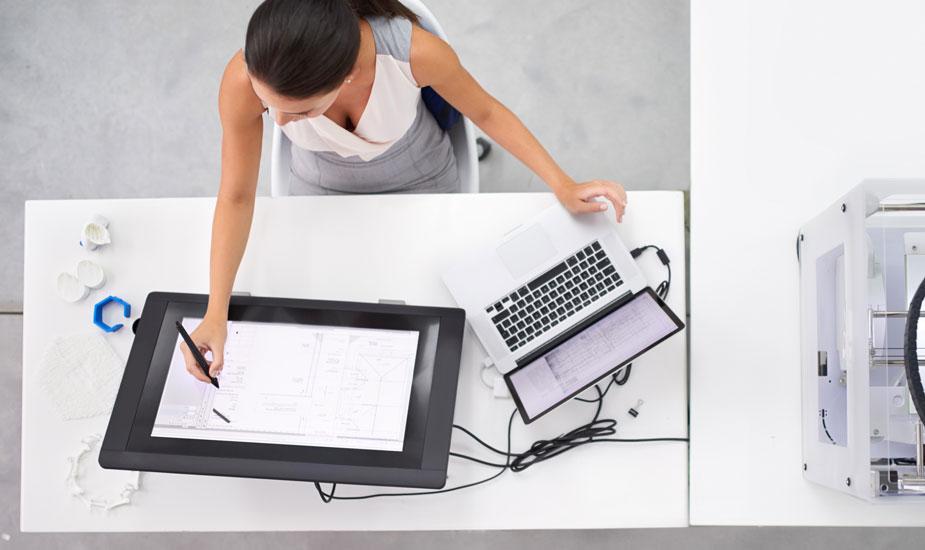 Schreibtisch Technik Fan