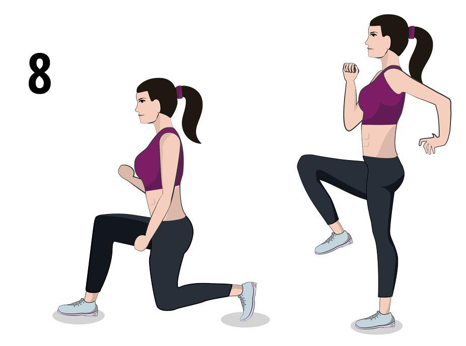 Lunge High Knee & Jump