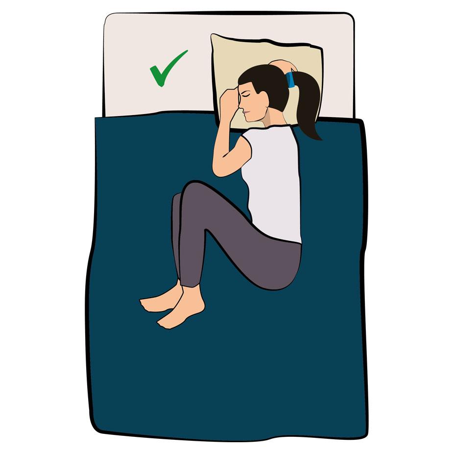 Schlafposition bei Bauchschmerzen