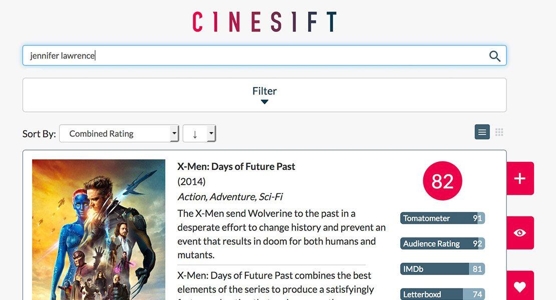 Cinesift: So einfach findest du die besten Filme auf Netflix & Amazon Prime